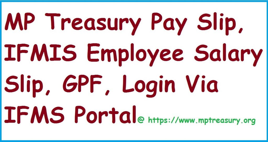 IFMIS MP Treasury Pay Slip 2020, ifms Employee Salary Slip,