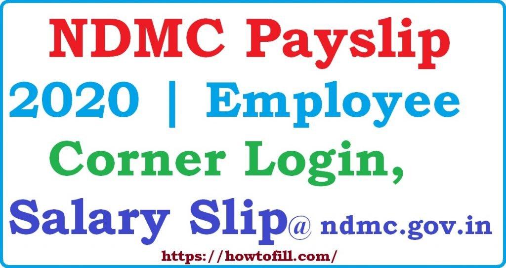NDMC Payslip 2021 Employee Corner ndmc gov in