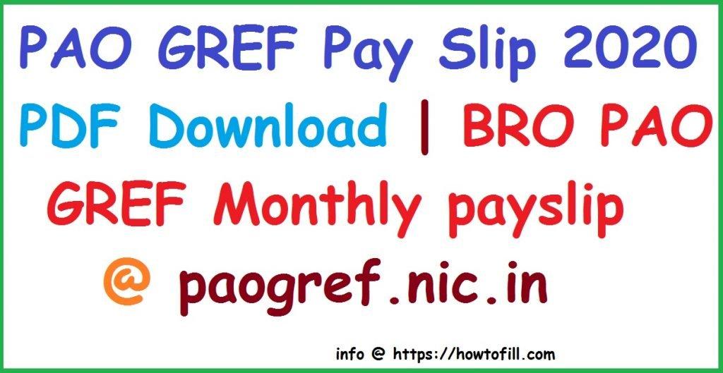 PAO GREF Pay Slip 2020 pdf BRO Monthly payslip 2020