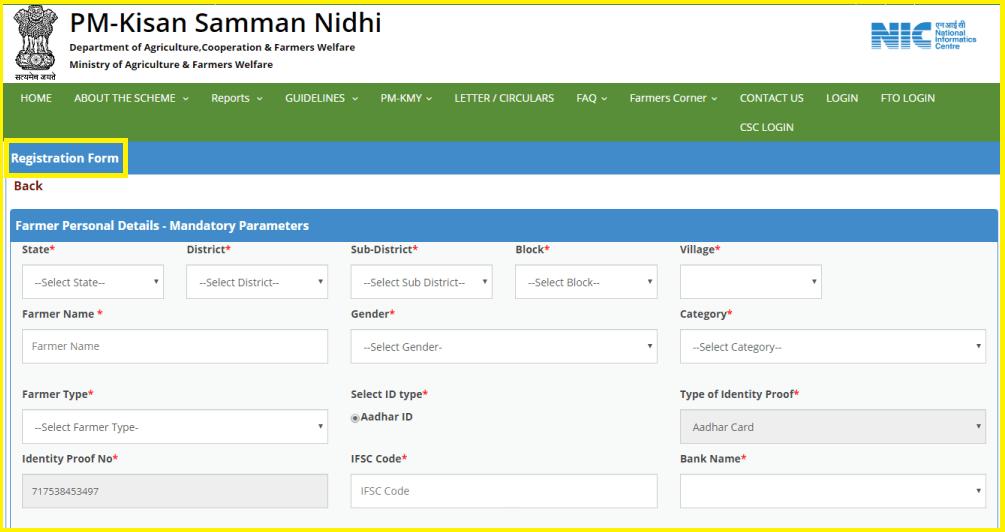 pm kisan samman nidhi yojana registration status