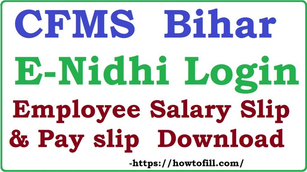 Bihar CFMS E-nidhi Login