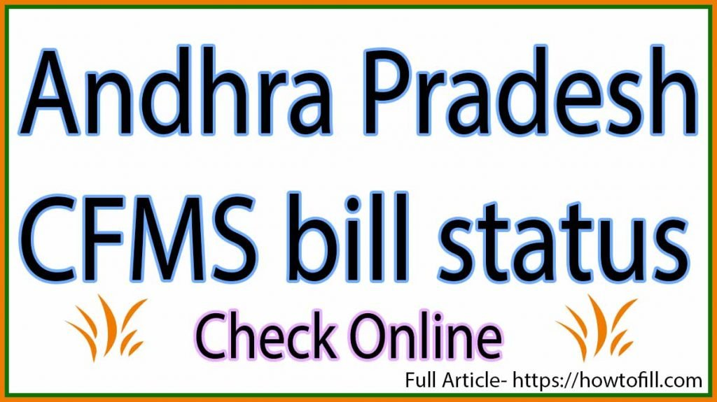 CFMS bill status