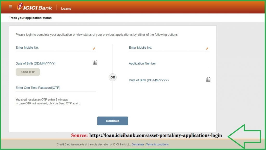 ICICI Credit Card Application Status