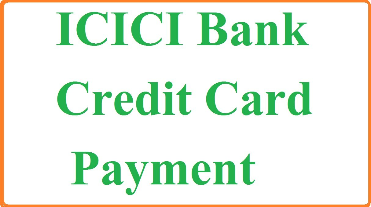 icici credit card bill payment netbanking