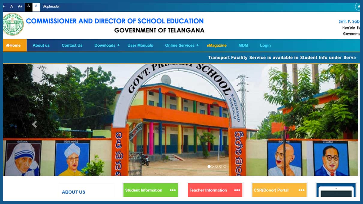 Schooledu.telangana.gov.in