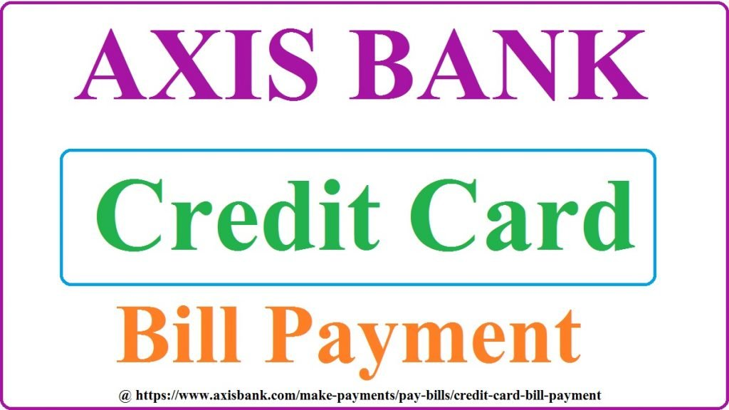 Axis bank Credit card Payment
