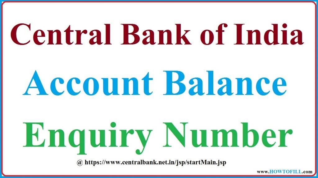 Central Bank of India Balance Enquiry 2021