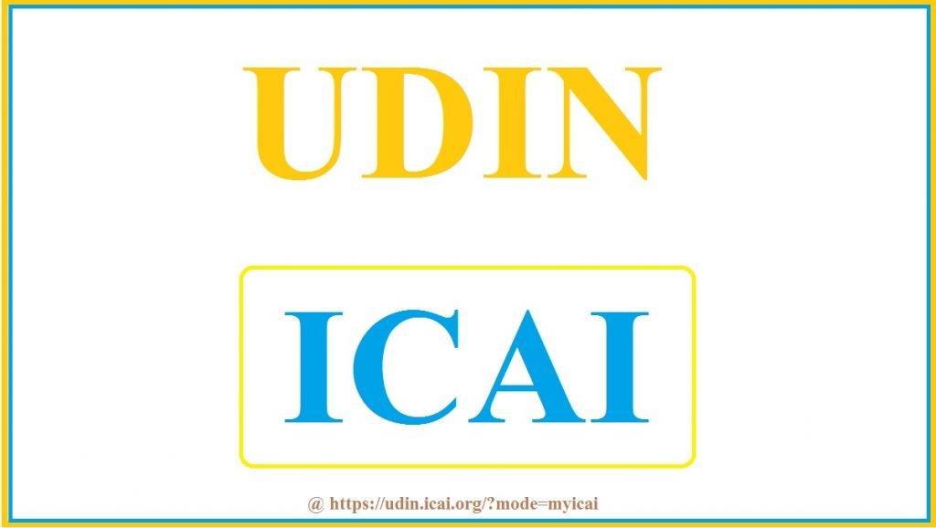 UDIN ICAI