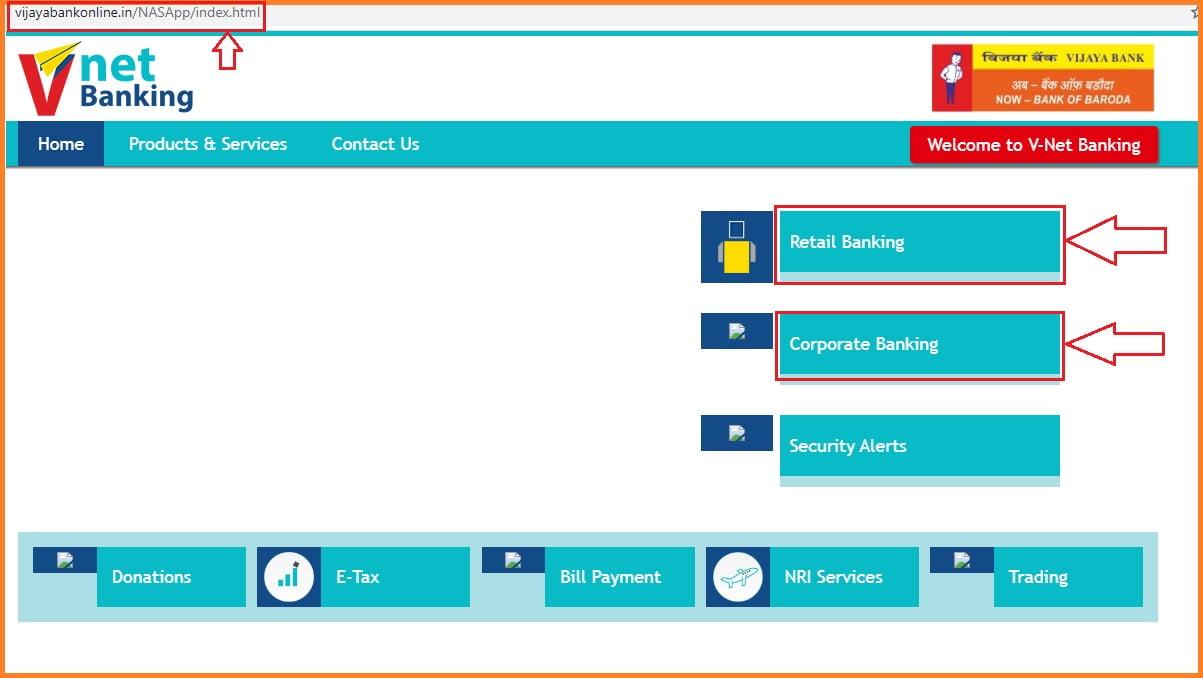 vijaya bank net banking registration procedure