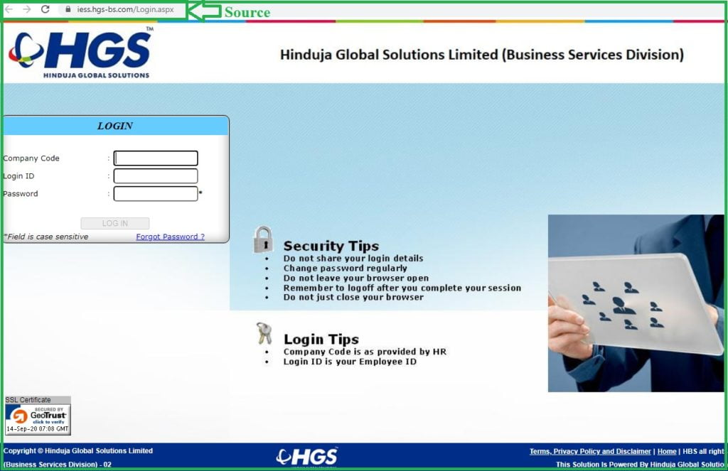 hgs login HGS payslip