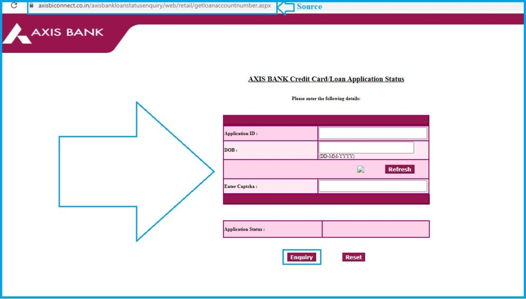 Axis Bank Personal Loan Status