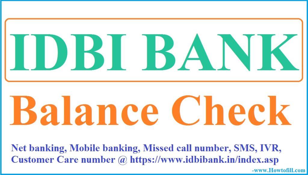 IDBI Balance Check