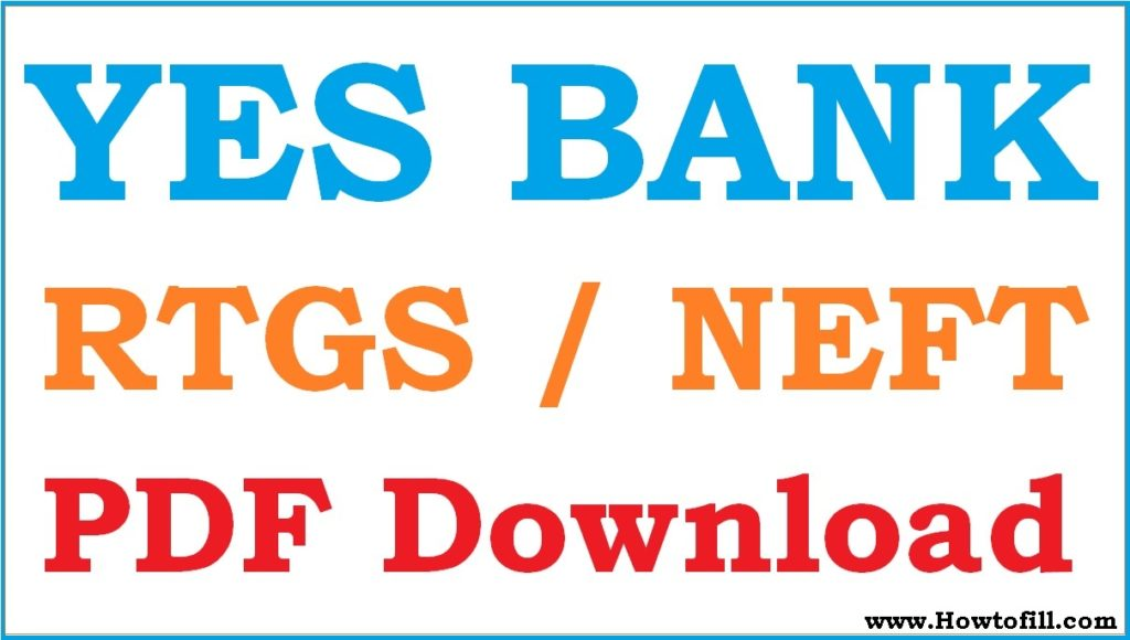 YES Bank RTGS Form