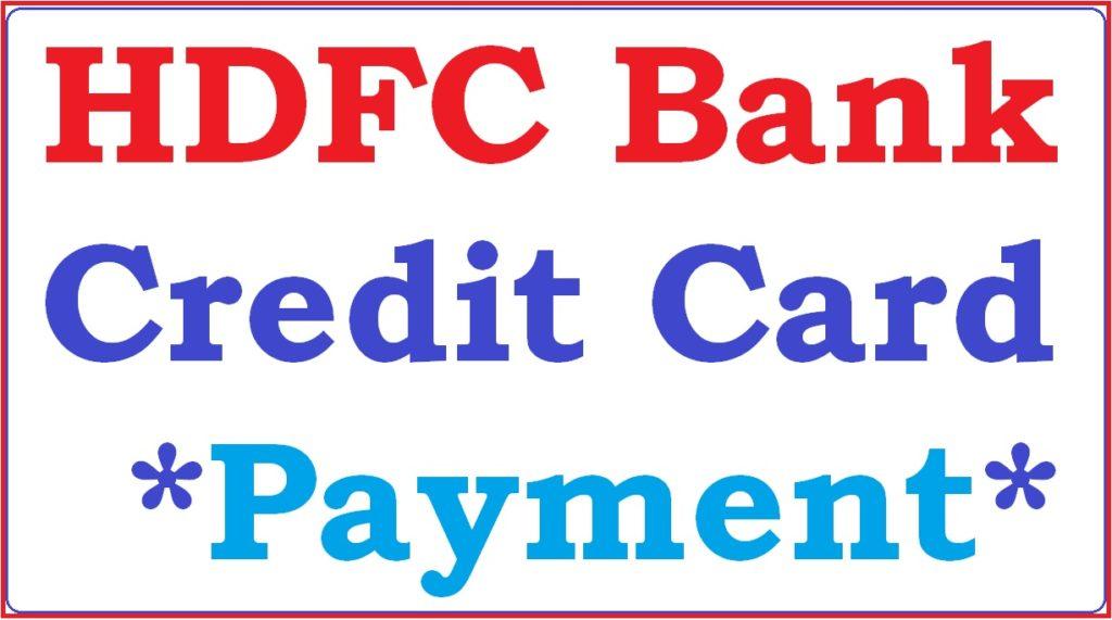 HDFC bank Credit Card bill Payment