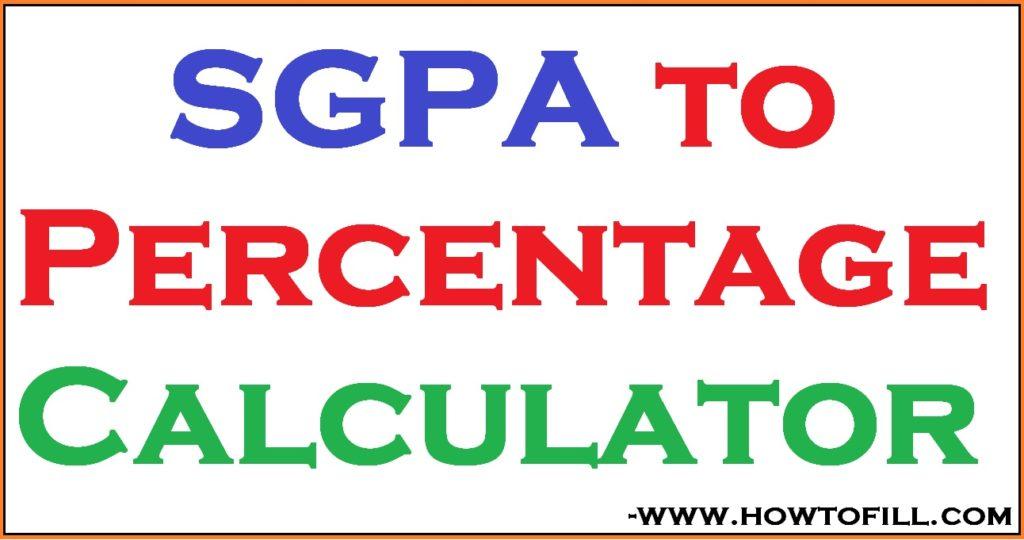 SGPA to Percentage Calculator