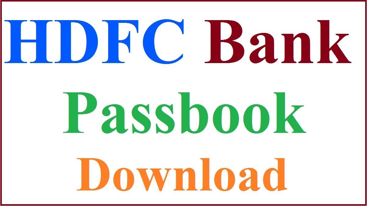 HDFC Passbook
