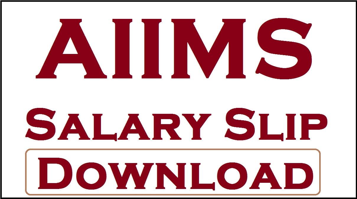 AIIMS Salary Slip