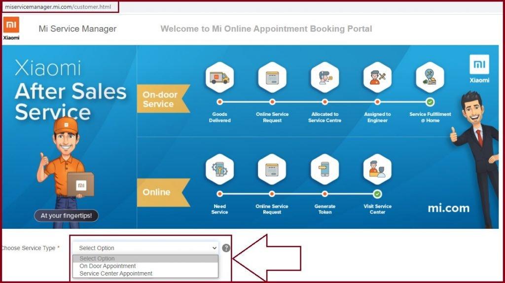 MI Service Center appointment