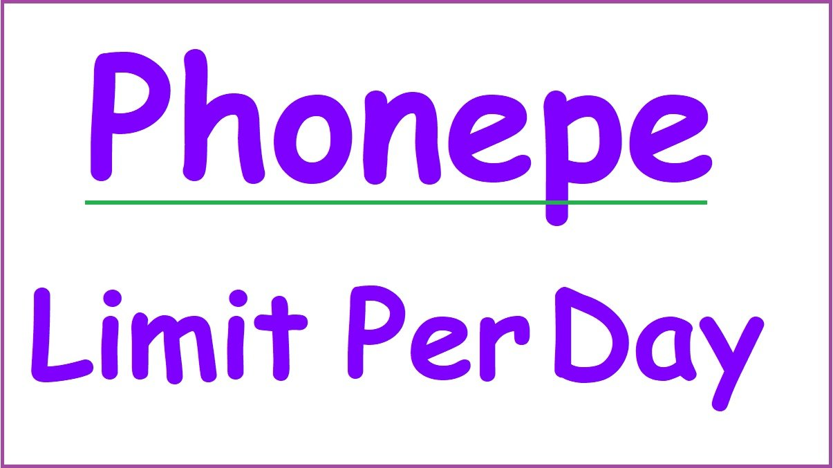 Phonepe Limit Per Day